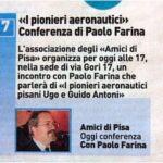 Una delle Conferenze, stavolta presso gli Amici di Pisa